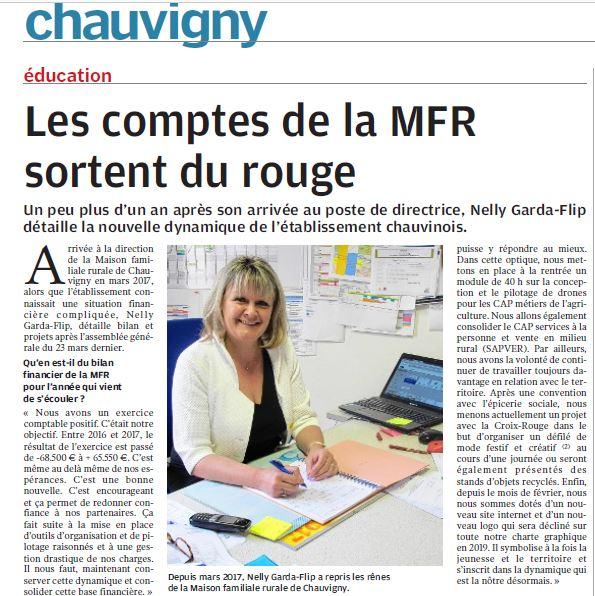 La santé financière de la MFR au beau fixe